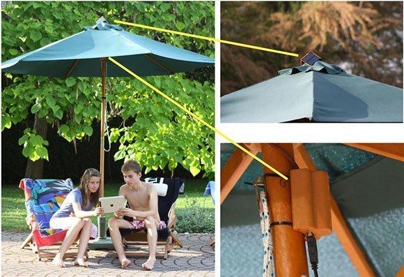sensysun installation SensySUN, le premier parasol connecté