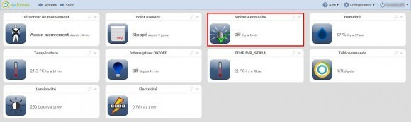 Guide d'utilisation de la sirène Aeon Labs AEO_ZW080-ZWEU (GEN5) avec la Eedomus