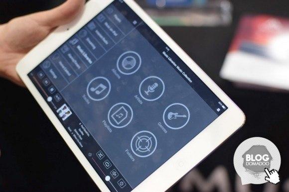 Musaic CES2015 app 580x386 #CES2015 : Musaic, un nouveau système audio multiroom qui offre aussi un contrôle domotique