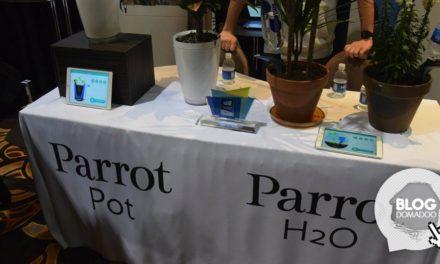 Au #CES2015 Parrot continue son opération main verte avec Pot et H2O