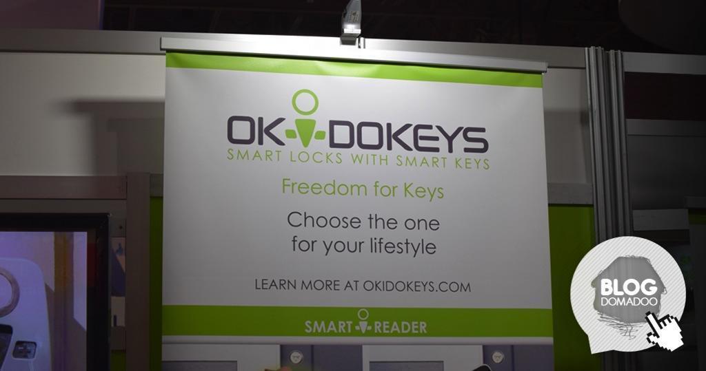 #CES2015 : Okidokeys présente sa serrure connectée au format Européen