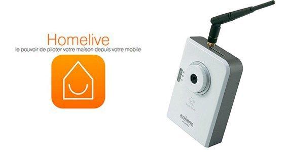 Guide d'utilisation des caméras IP Edimax avec la base domotique Homelive d'Orange