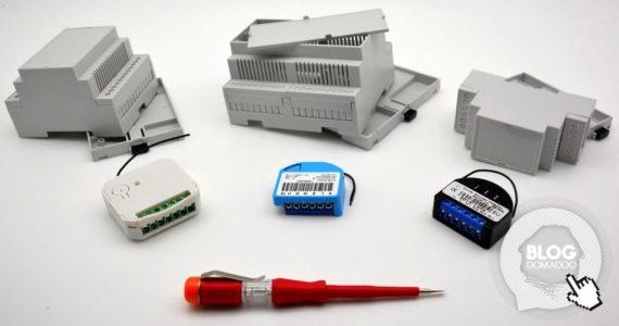 guide de montage du boitier camdenboss sur support rail din pour micromodules domotiques