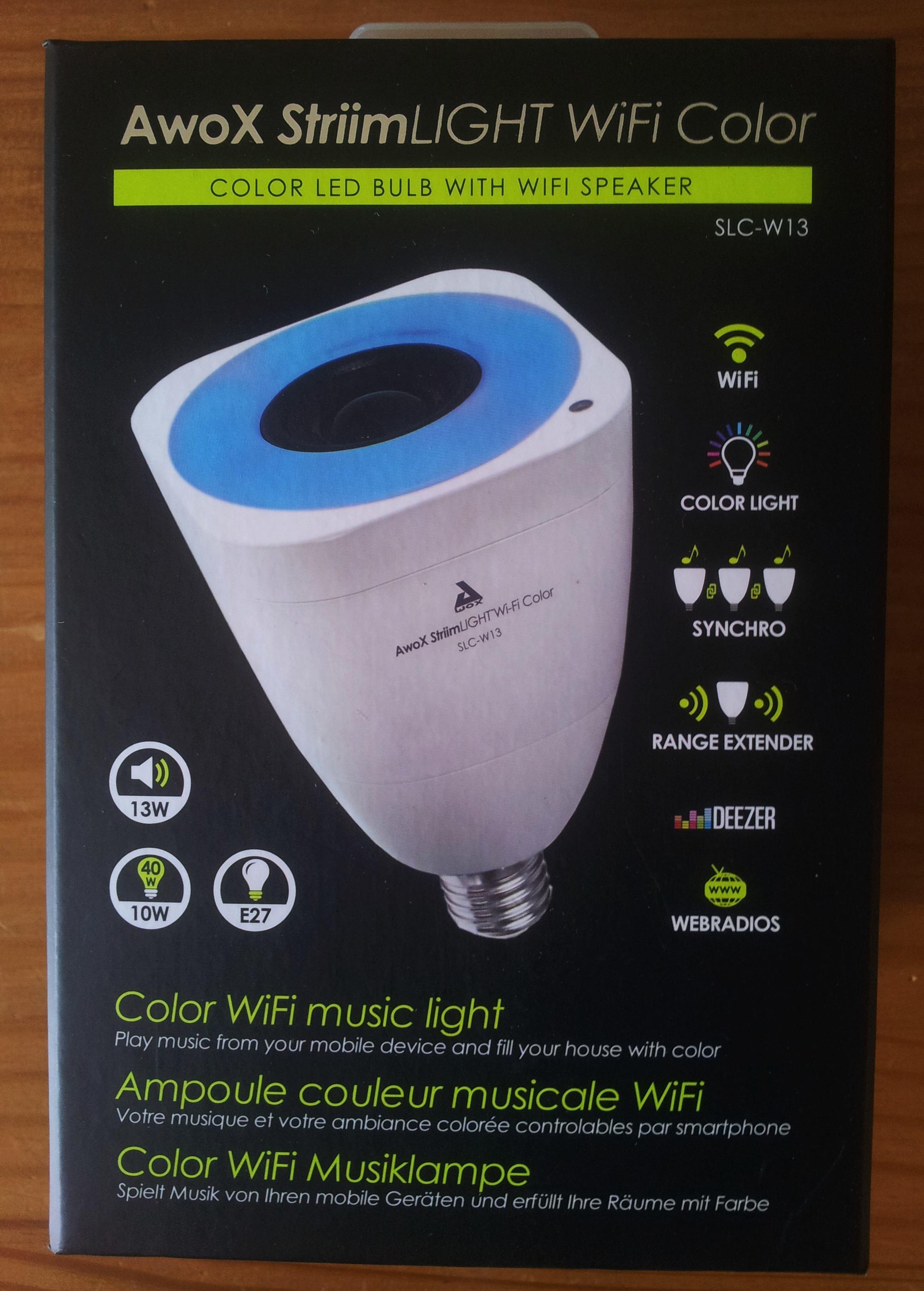 Color Parleur Wifi Test Avec Striimlight L'ampoule Awox De Haut zVpUSMGq