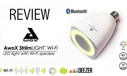 #Test de l'ampoule AwoX StriimLight WiFi COLOR avec Haut Parleur intégré