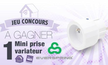 #Concours: gagnez une mini prise Z-wave variateur Everspring AD147-6 !