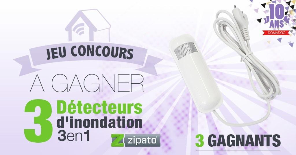 #CONCOURS: 3 détecteurs inondation 3 en 1 Zipato à gagner !