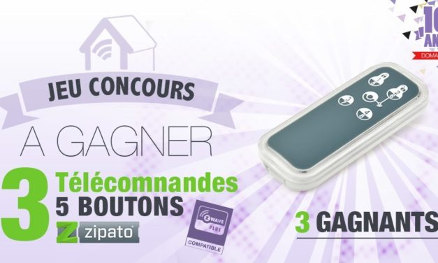 #CONCOURS: 3 télécommandes Z-wave+ Zipato à gagner !