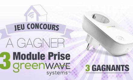 #CONCOURS: 3 prises Z-wave de chez Greenwave à gagner !