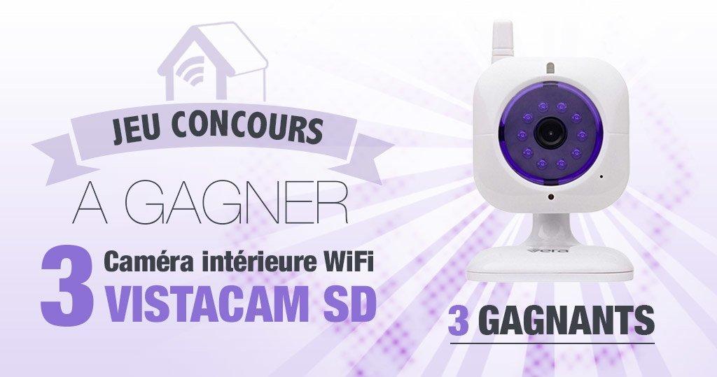 #CONCOURS: 3 caméras Wifi intérieures VistaCamSD à gagner !