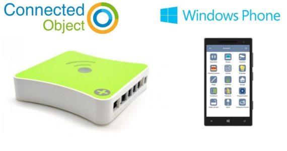 Mise à jour annoncée par Connected Object : disponibilité de l'application Windows Phone