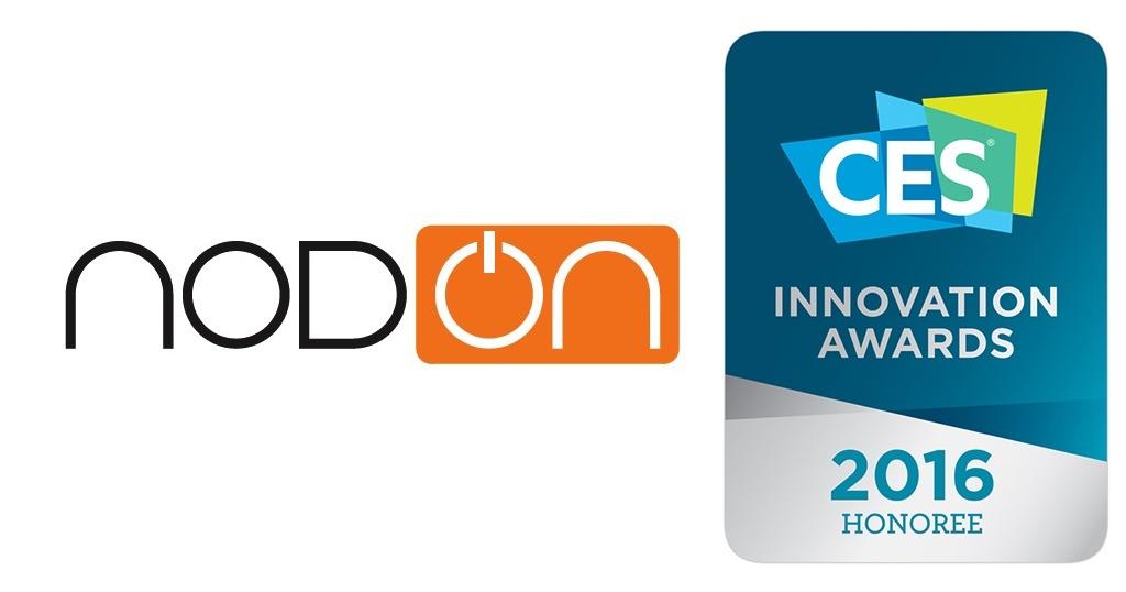 NodOn remporte un #CES2016 Innovation Award pour son détecteur de fumée connecté EYE