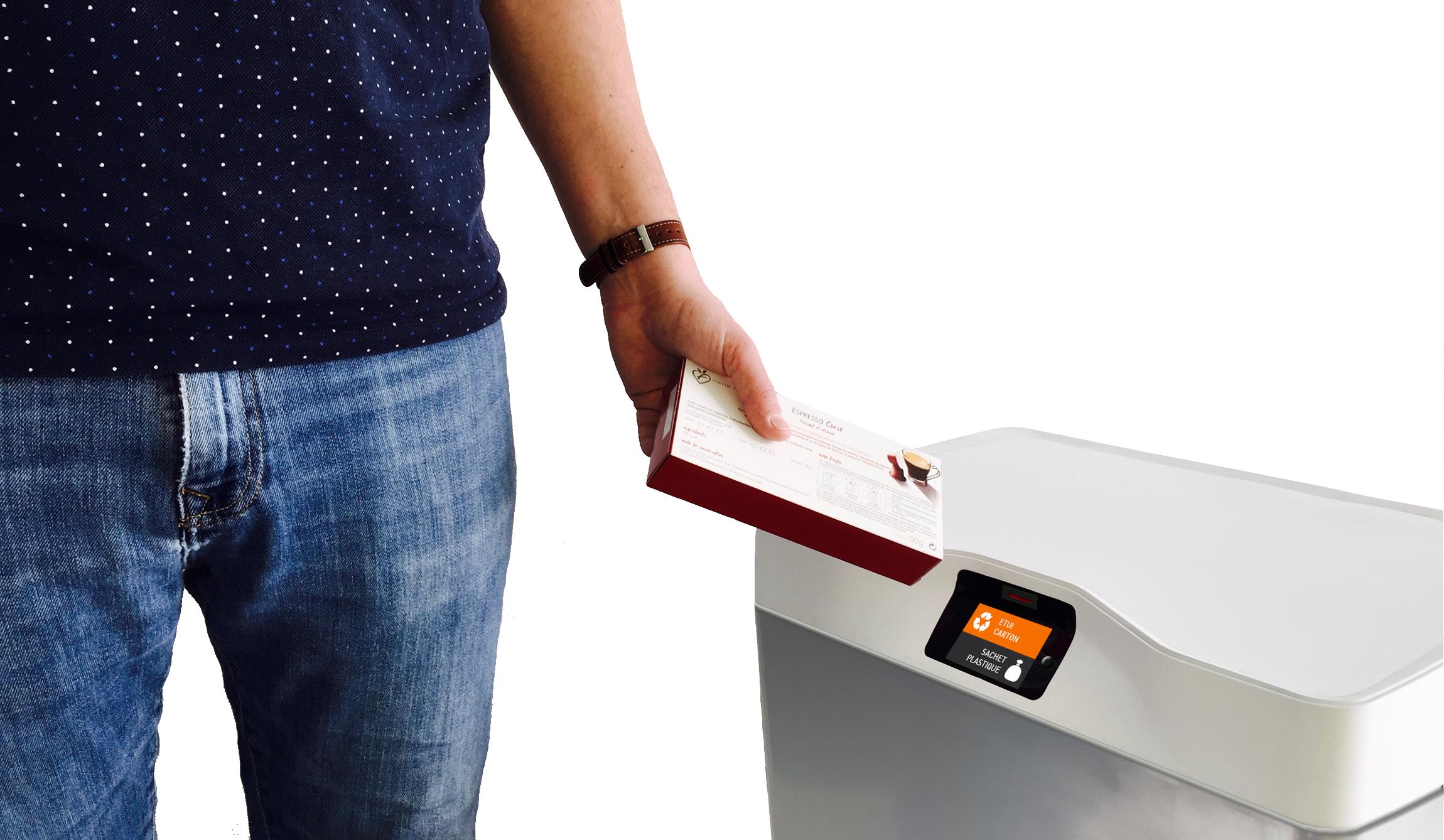 Eugène, la poubelle connectée qui vous aide à trier vos déchets