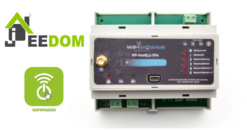 wifipower WP PANEL2 FP4 jeedom une