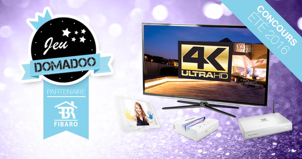 #Concours: une TV Ultra HD 4K et 9 lots Fibaro à gagner !