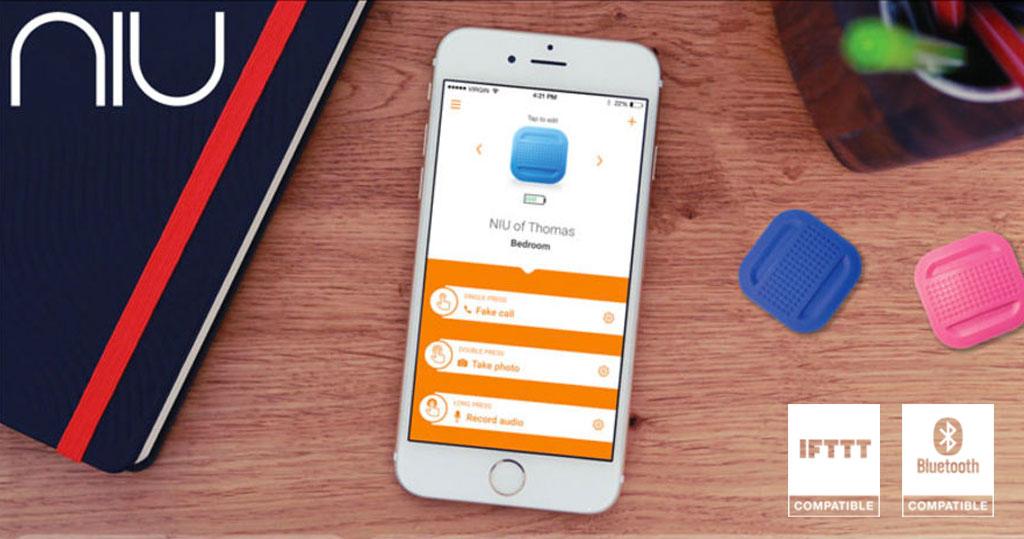 NIU nodon bouton connecte smartphone bluetooth ifttt