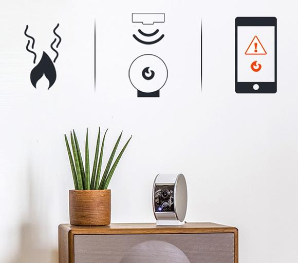 fuego MyFox-cámara de seguridad-señalización