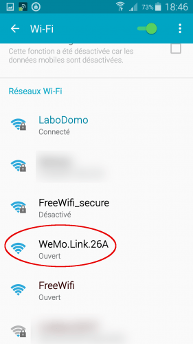 [Wemo App] 01 sélection wifi Wemo Link