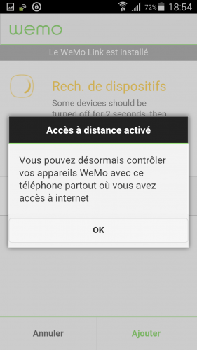 [Wemo App] 06 Validation config wifi perso