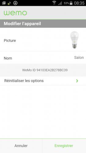 [Wemo App] 08 Renommer un périphérique
