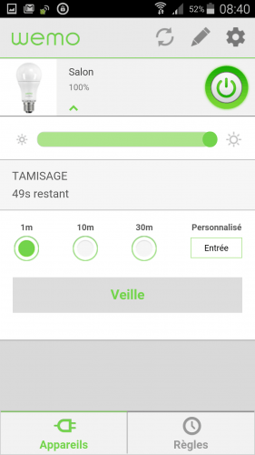 [Wemo App] 09 Utiliser Ampoule led