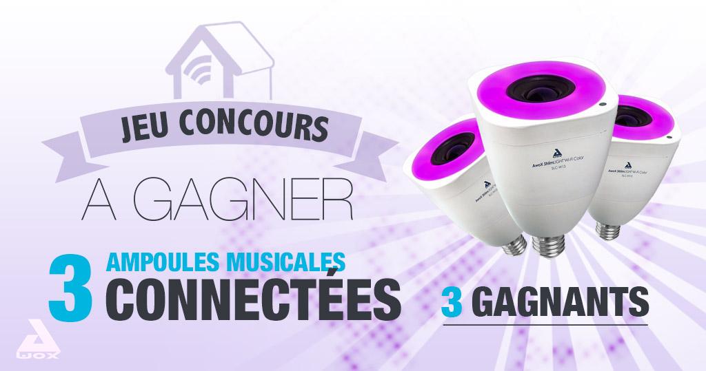 #CONCOURS: Gagnez trois ampoules led musicales StriimLight de chez Awox !