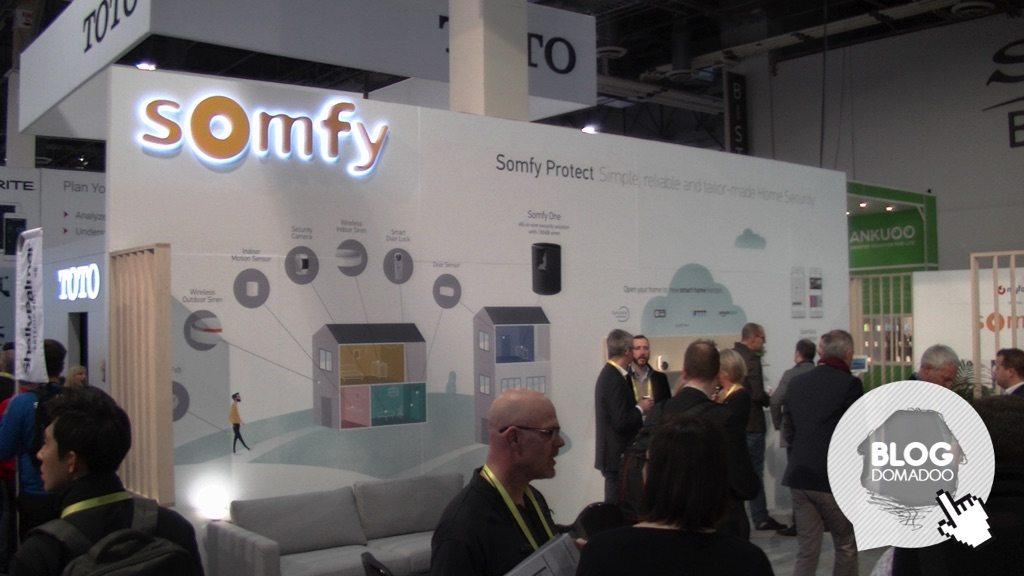Somfy présente sa serrure connectée durant le #CES2017