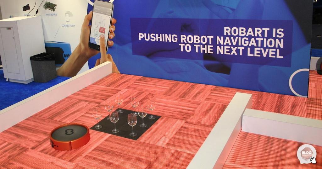 Robart présente son robot aspirateur doté d'une intelligence artificielle au #CES2017