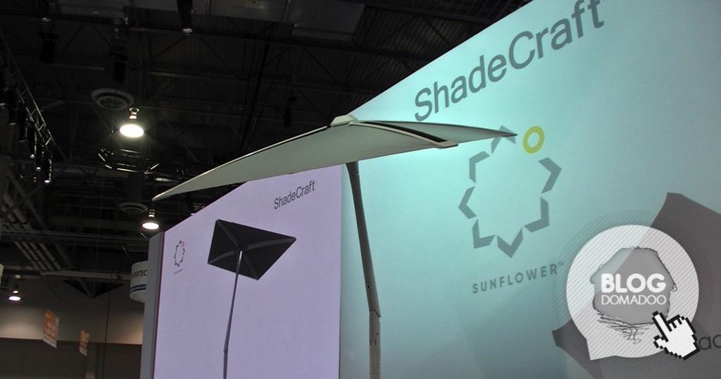 ShadeCraft dévoile son parasol solaire connecté SunFlower au #CES2017