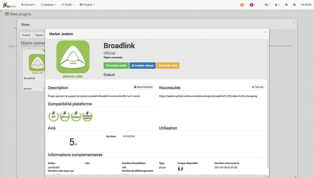 Guide d'intégration du RM-PRO de Broadlink avec Jeedom