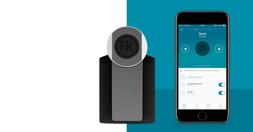 TheKeys, une serrure connectée qui s'installe en 2 minutes