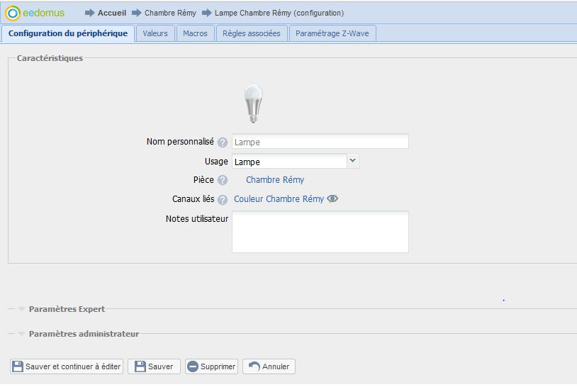 EEDOMUS6 A relire : Guide d'utilisation de l'ampoule Led Z-Wave d'Aeotec avec Eedomus