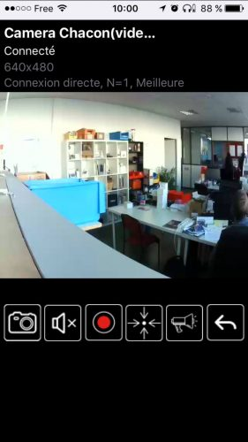 Test de la caméra intérieure rotative DIO