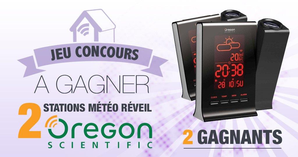 #CONCOURS: Deux stations météo réveil Oregon Scientific à gagner !