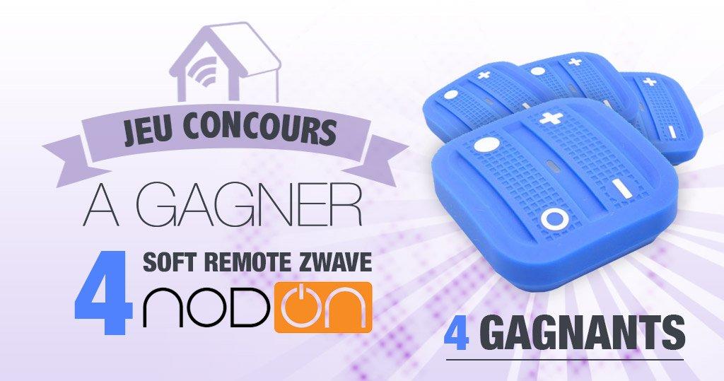 #CONCOURS: 4 Télécommandes Zwave Nodon Soft Remote à gagner !