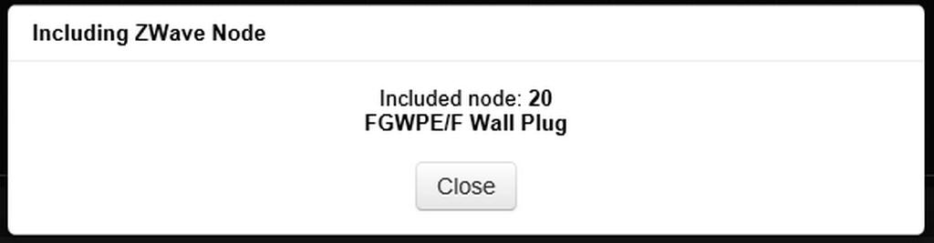 nouvelle inclusion fibaro plug 1