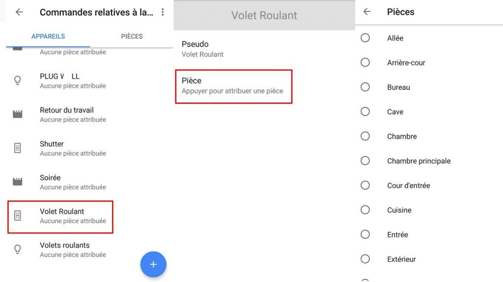Interface Web Eedomus pour intégrer l'assistant vocal Google Home