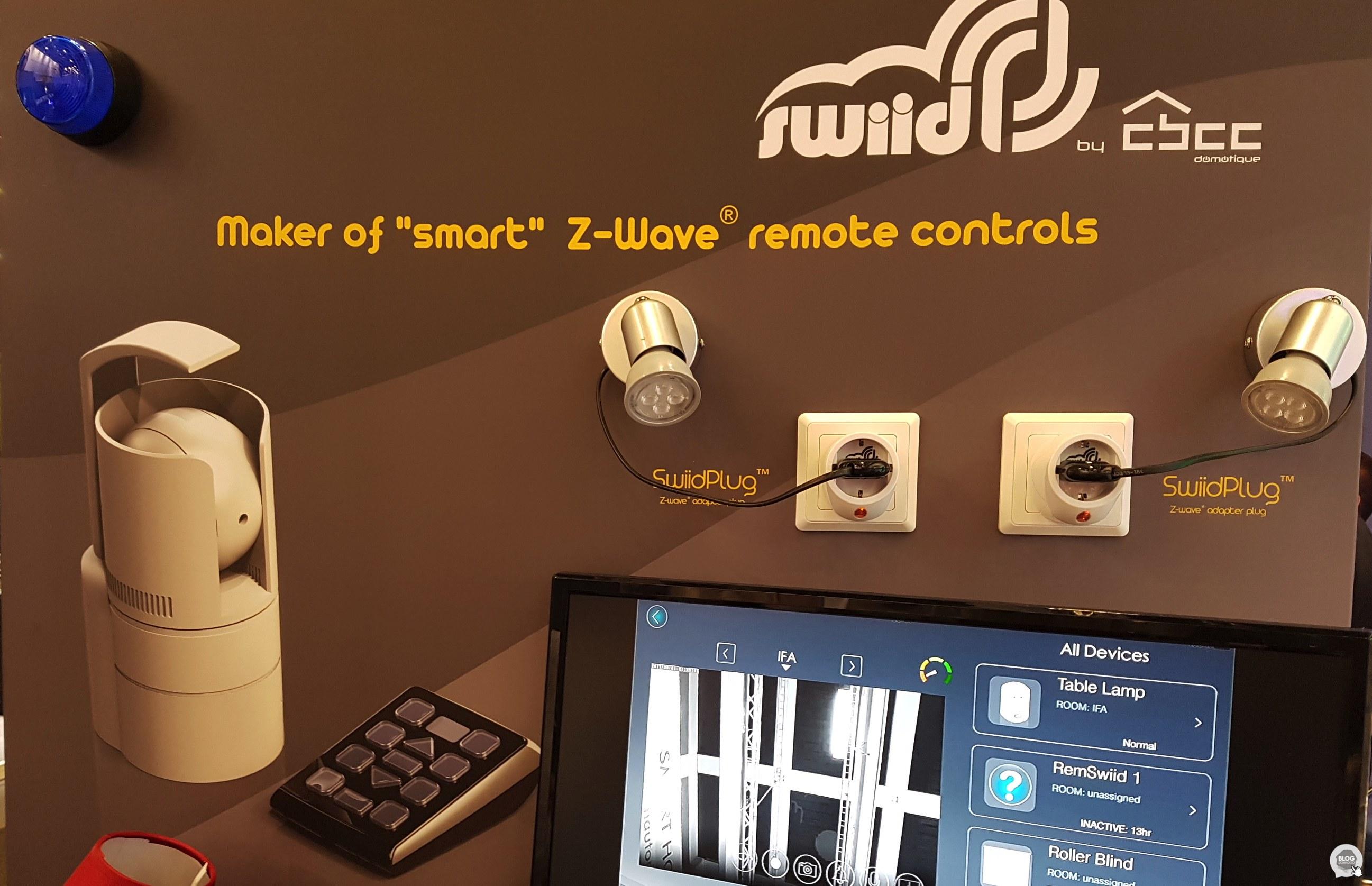 Swiid présente une nouvelle télécommande LCD et une caméra à l'#IFA2017