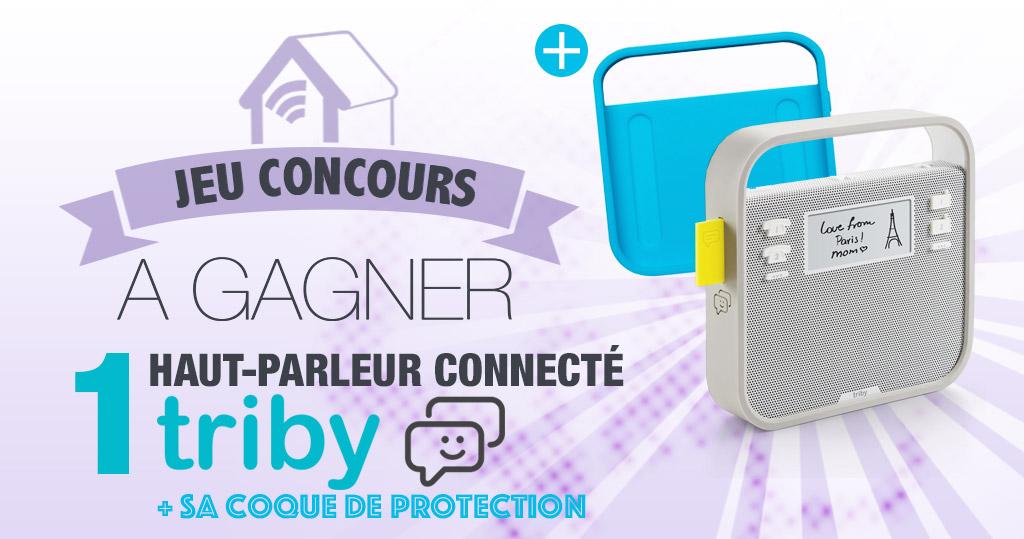 #CONCOURS: gagnez un haut parleur connecté Triby