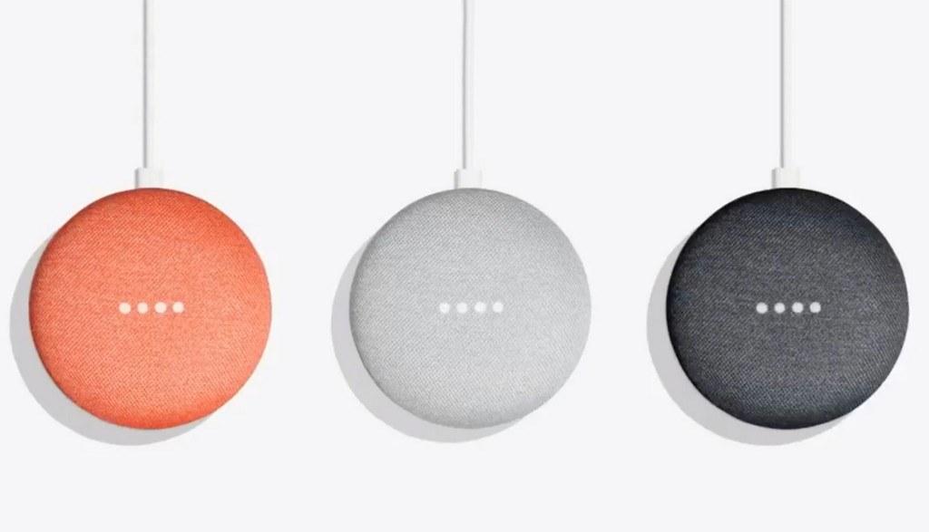 Les différents coloris des enceintes connectées Google Home Mini