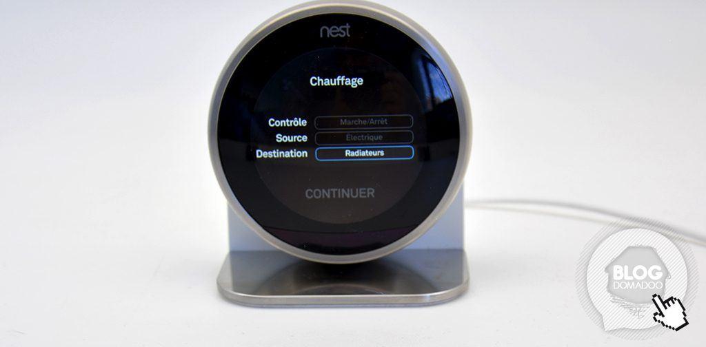 nest chauffage elec