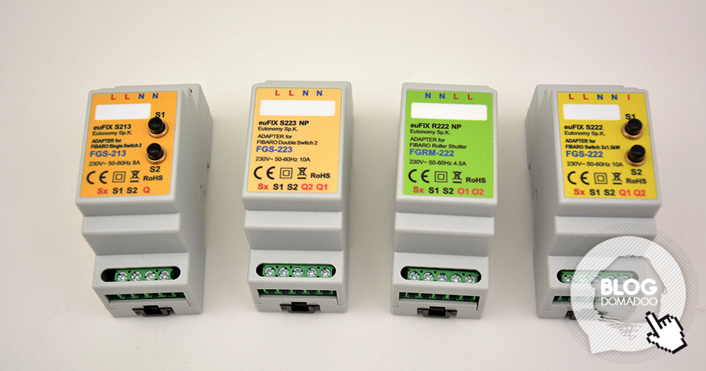 Vos modules Fibaro installés au tableau électrique grâce aux adaptateurs euFIX
