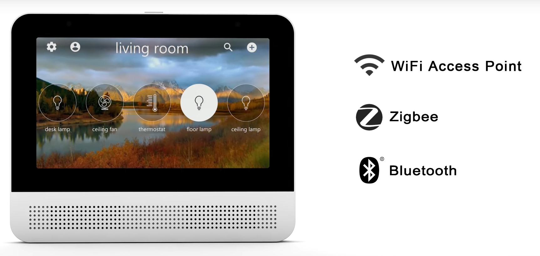 lynky l 39 cran tactile int grant google assistant coeur de la maison connect e news. Black Bedroom Furniture Sets. Home Design Ideas