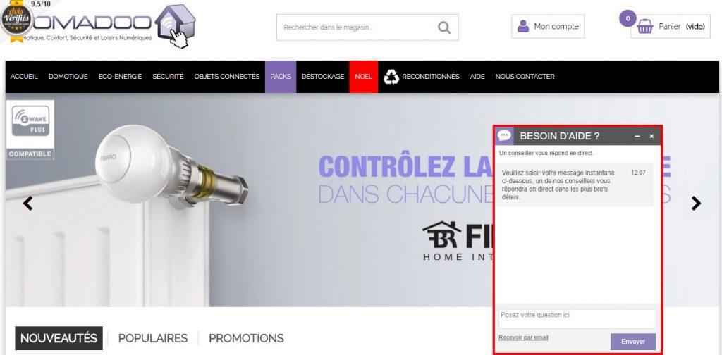 Chat' en ligne sur la boutique de Domadoo
