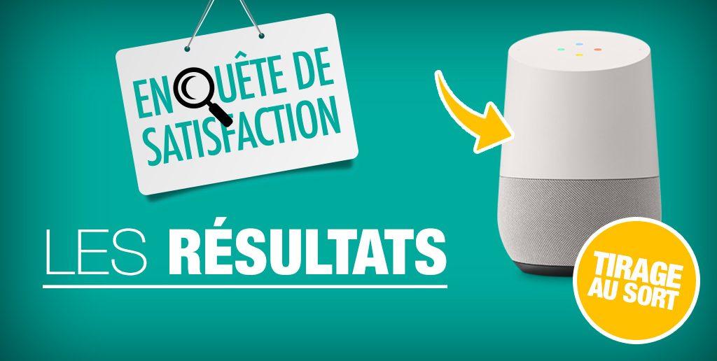 resultats enquete de satisfaction
