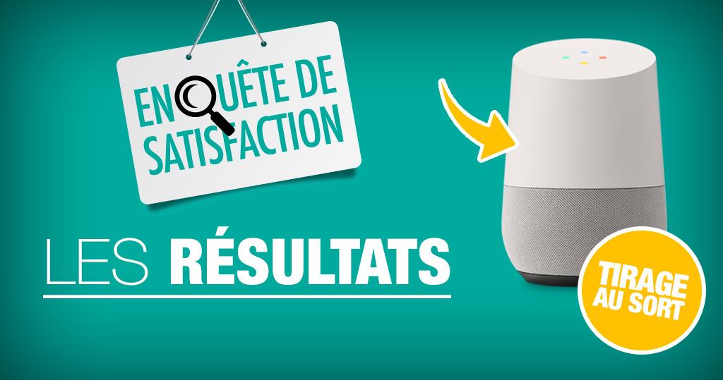 Résultats de notre grande enquête de satisfaction