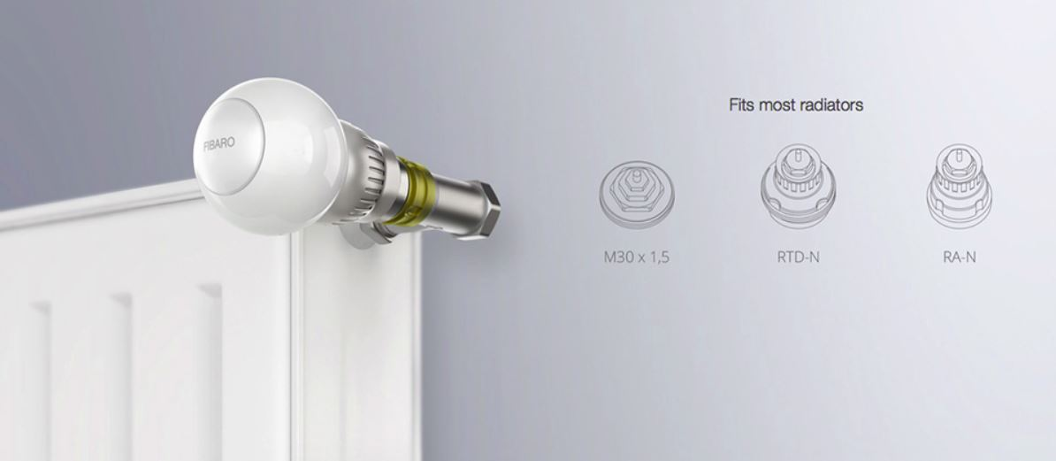 04Tête Thermostatique Fibaro