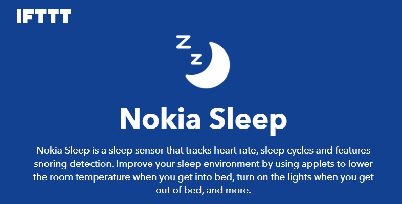 nokia sleep ifttt channel