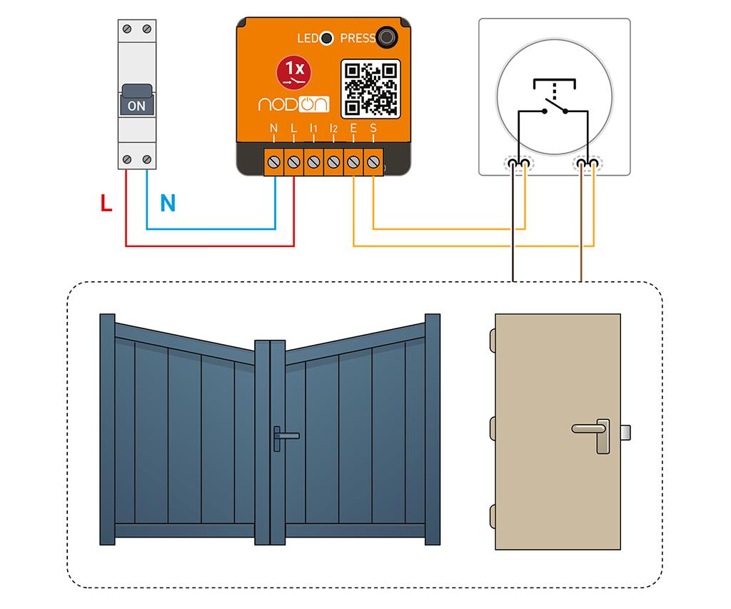 schema module enocean nodon portail
