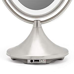 ihome alexa vanity mirror stantd back